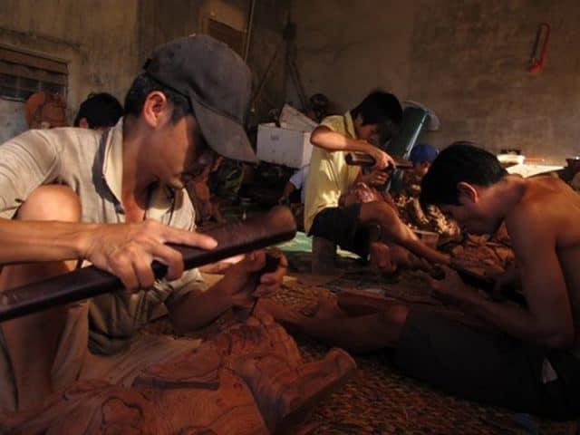 Nghề mộc của làng được thừa hưởng từ làng Mỹ Xuyên (Ảnh ST)