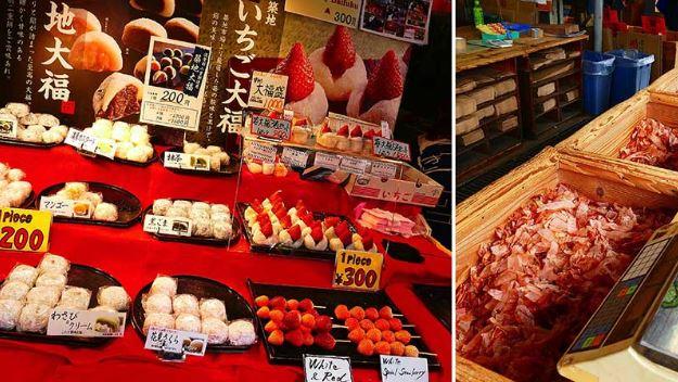 món ăn vặt tại chợ cá Tsukiji