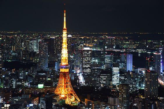 Ngắm nhìn Tokyo về đêm từ Tokyo Tower
