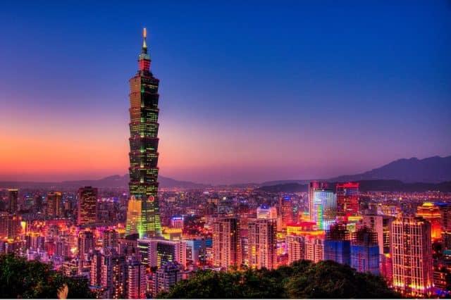 Tòa tháp nổi tiếng, biểu tượng của Đài Loan (Ảnh ST)