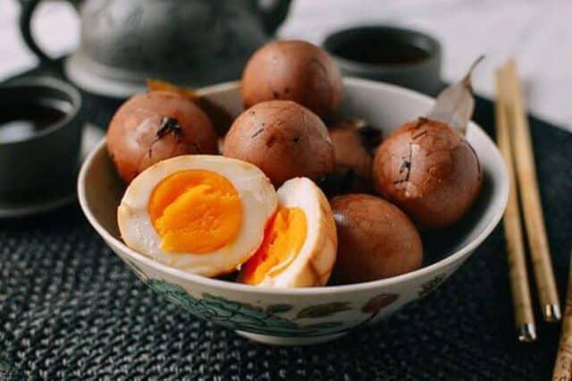 Trứng chưng nước trà