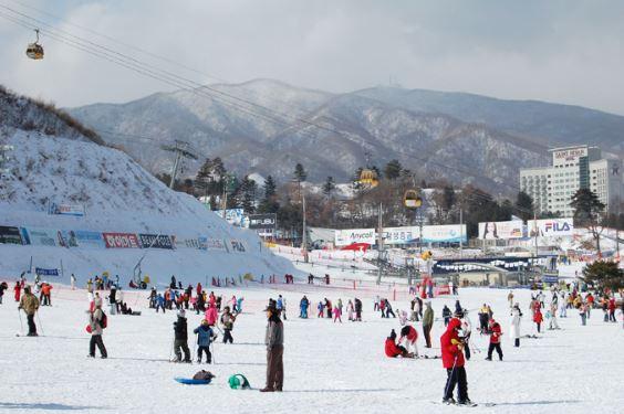 Khu trượt tuyết trên núi Phú Sỹ