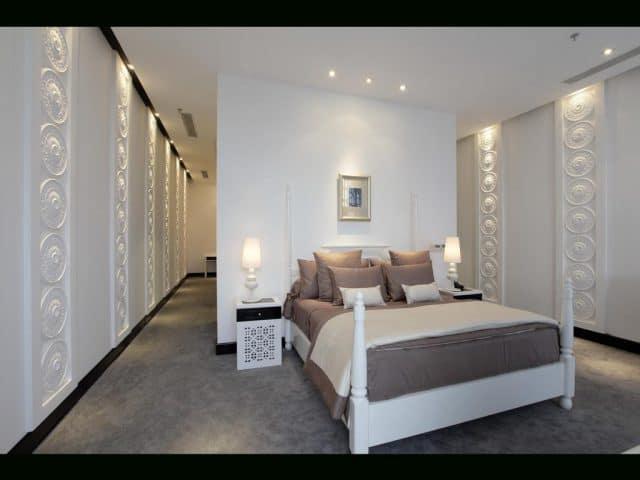 Phòng ngủ của Tajmasago Castle resort (Ảnh ST)