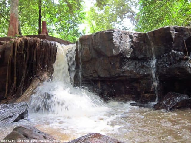 A small waterfall in many waterfalls in the tourist complex of Binh Phuoc