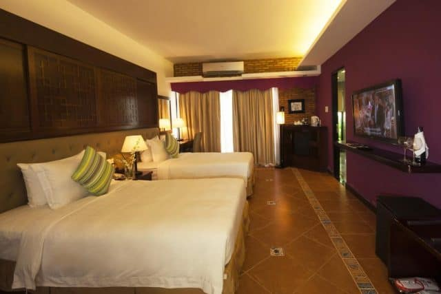 Phòng nghỉ của khách sạn được thiết kế đơn giản mà sang trọng (Ảnh ST)