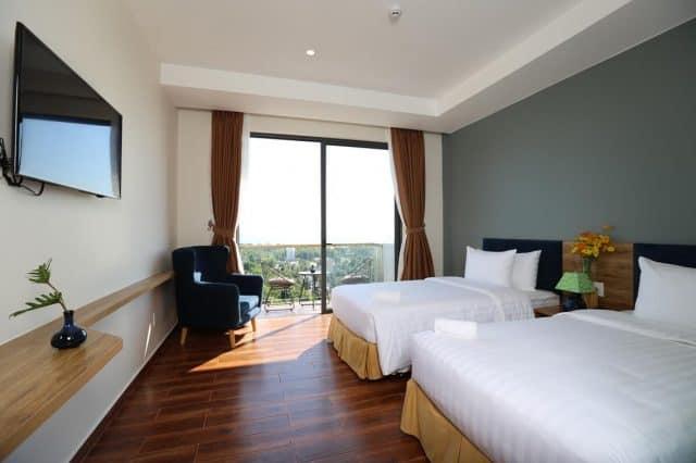 Phòng ốc của khách sạn thiết kế với tông màu chủ yếu là màu trắng (Ảnh ST)