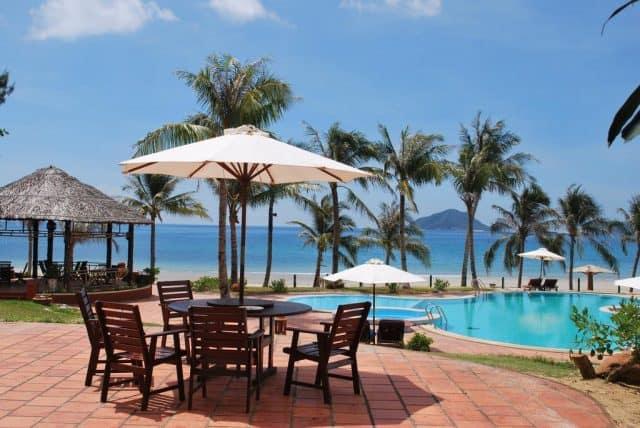 Côn Đảo Resort Vũng Tàu được bao phủ bởi hàng dừa xanh (Ảnh ST)