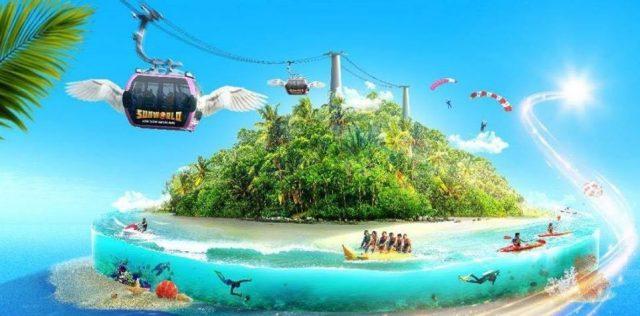 Cáp treo dài nhất thế giới của đảo Hòn Thơm (ảnh ST)