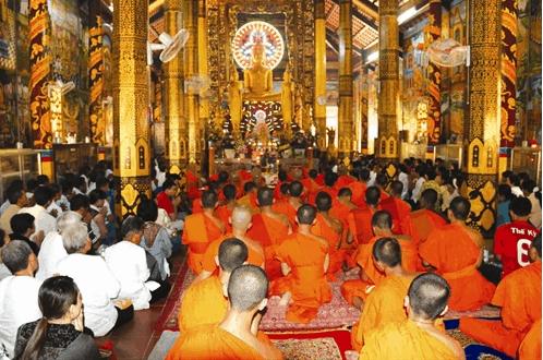 Chùa Âng là nơi tu tâm hướng thiện của nhiều Phật tử trong và ngoài tỉnh (ảnh sưu tầm)