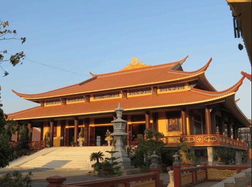 Khu nhà chính đường nổi bật của thiền viện Trúc Lâm Chánh Giác