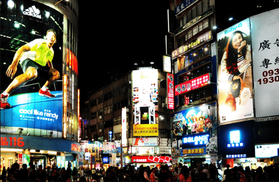 Ximending là một trong những chợ đêm Đài Loan nổi tiếng nhất