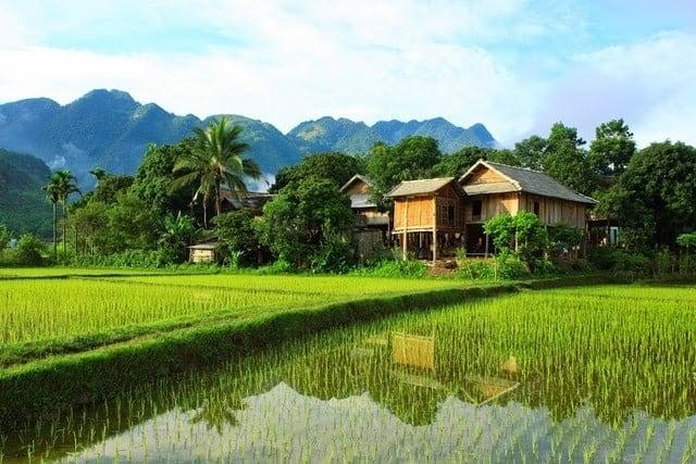 Bản làng ở Mai Châu (Ảnh: ST)