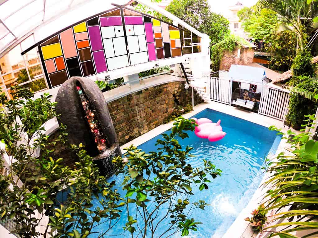 Homestay ở Hà Nội có bể bơi