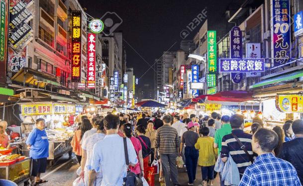 Chợ đêm Liuhe Đài Loan (ảnh ST)