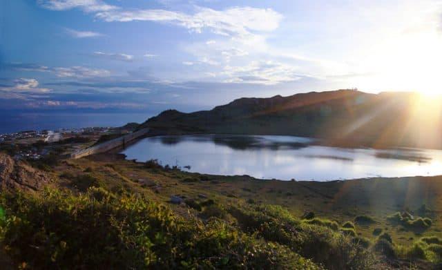 """""""Đẹp mê hồn"""" miệng núi lửa Lý Sơn nhìn từ trên cao"""