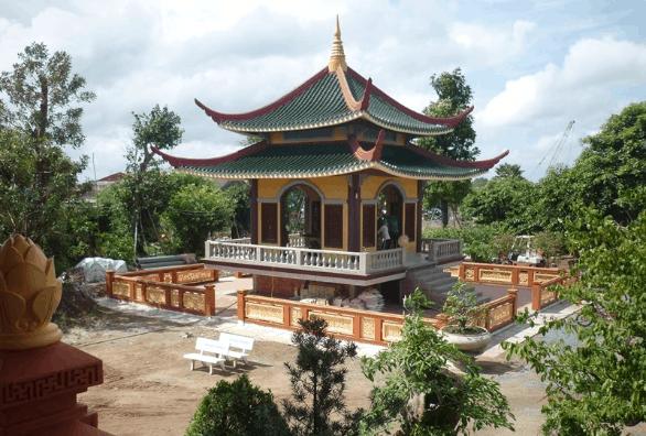 Lầu Chuông - công trình kiến trúc là tâm điểm của khu thiền viện Trúc Lâm Chánh Giác (Ảnh: sưu tầm)