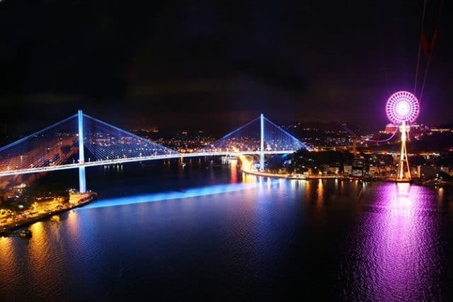 Cầu Bãi Cháy một trong những cây cầu đẹp nhất ở Việt Nam (ảnh ST)