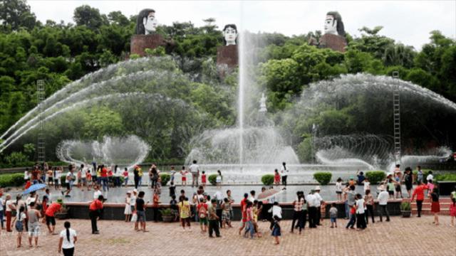 Nhạc múa rối va nước ở khu giải trí (ảnh ST)