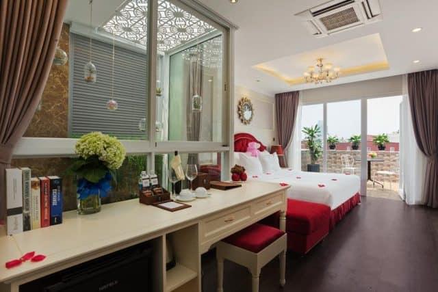 Phòng ngủ đầy đủ trang thiết bị hiện đại (ảnh ST)