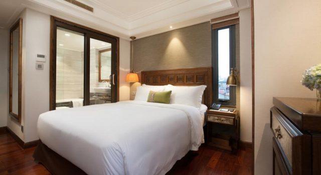 Phòng ngủ của khách sạn Hanoi Delano Hotel (ảnh ST)
