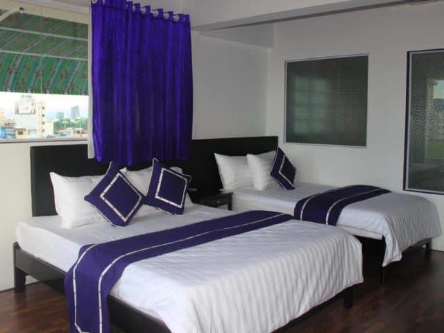 Khách sạn Ngôi Nhà Xanh với phòng ốc tiện nghi và sạch sẽ