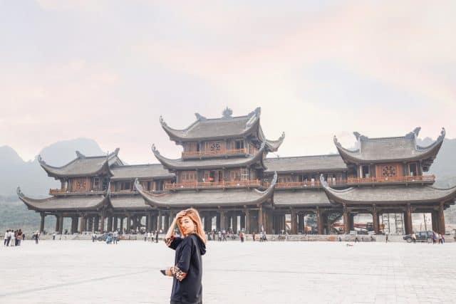 Chùa Tam Chúc sau khi hoàn thành tất cả hàng mục sẽ là ngôi chùa lớn nhất thế giới. Ảnh: Nguyễn Anh Trâm