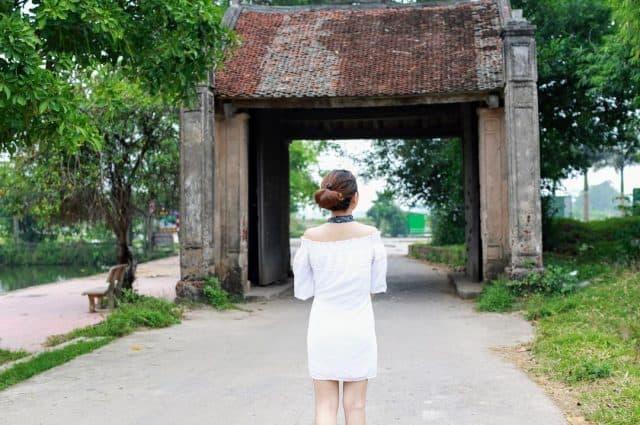 Không gian cổ kính yên bình ở làng cổ Đường Lâm