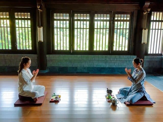 Lớp Thiền Trầm để du khách tìm về sự yên bình