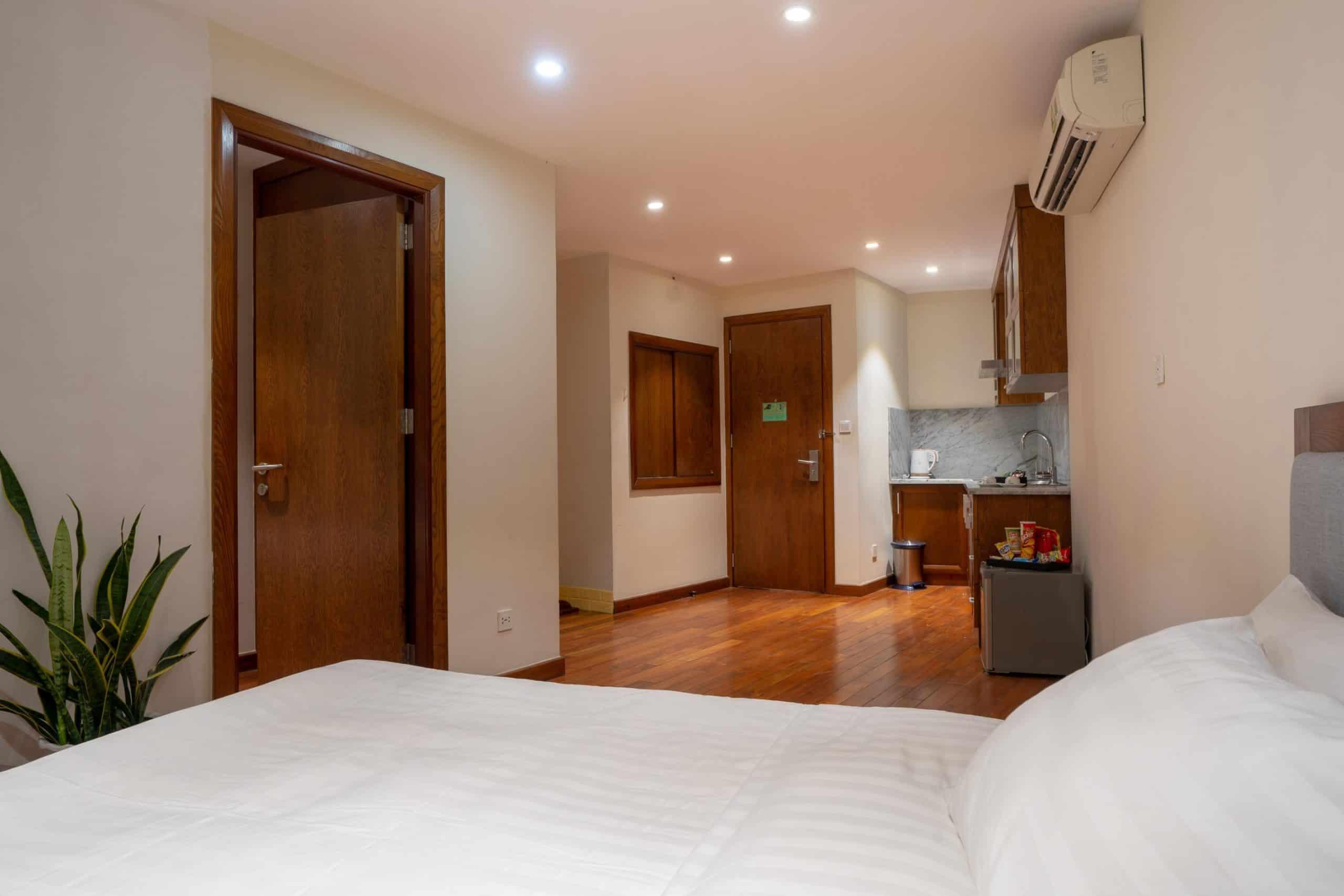 Không gian tiện nghi đầy đủ nội thất của phòng