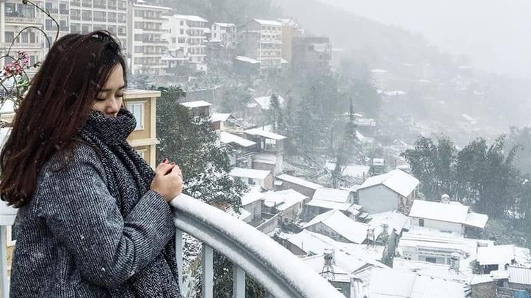 Tuyết rơi tại Sapa tạo nên khung cảnh đẹp đến nao lòng. Ảnh: thangsoi