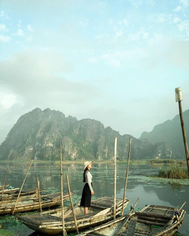 Phong cảnh non nước hữu tình tại Đầm Long Vân. Ảnh:@xit_byj