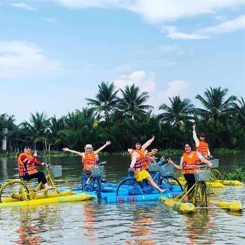 Rất nhiều hoạt động thú vị diễn ra tại khu du lịch Lang Tre Việt. Ảnh ST