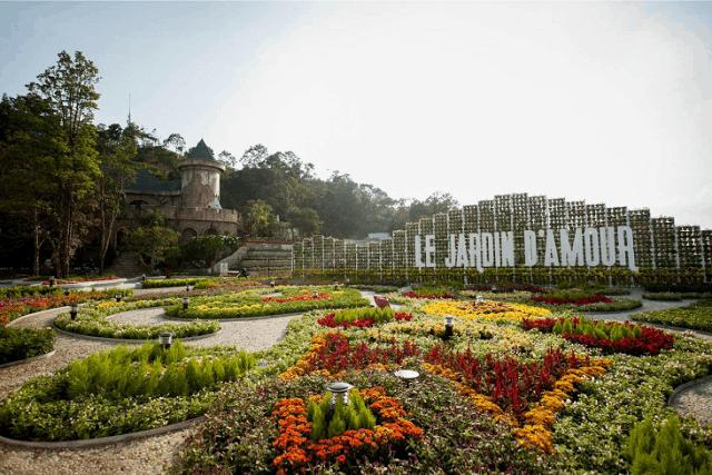 Vườn hoa Le Jardin D'Amour(Ảnh: ST)