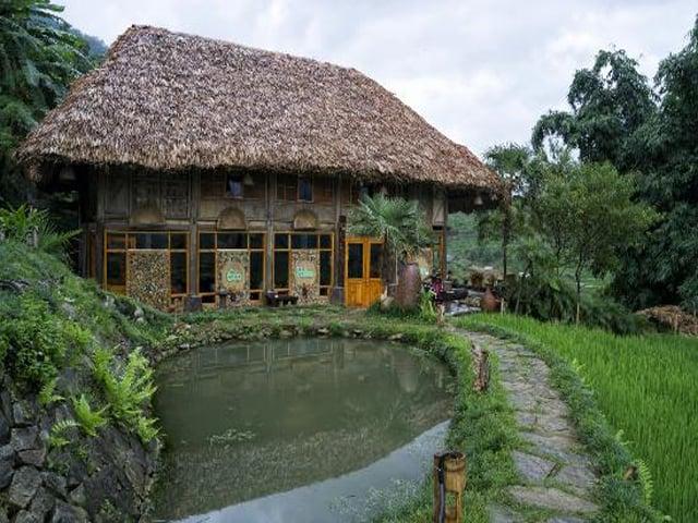 Eco Palms House có view nhìn ra thung lũng Mường Hoa