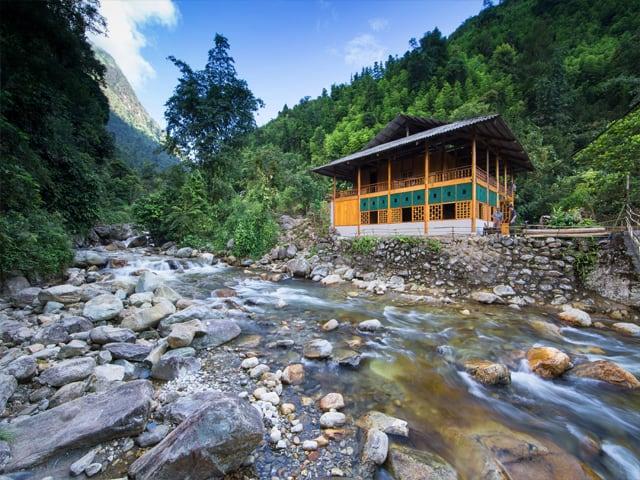 Nam Cang Riverside Lodge được thiết kế khá đặc biệt