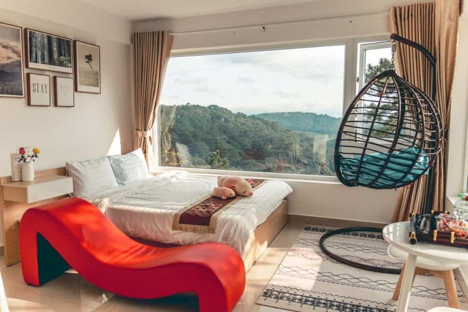 Ngắm nhìn Đà Lạt từ trên cao với view phòng cực đẹp tại Kymi Villa