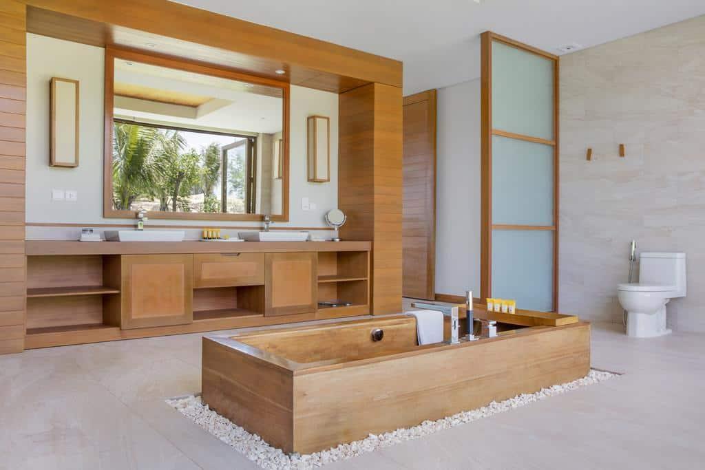 Nhà tắm vô cùng ấn tượng. Ảnh ST