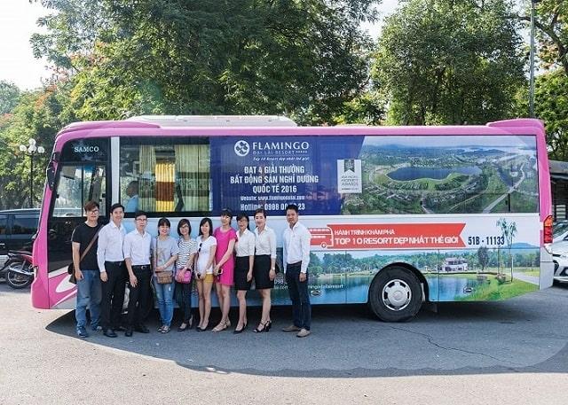 Flamingo Bus là phương tiện di chuyển tiện ích giúp đưa đón bạn từ Hà Nội lên Đại Lải hàng ngày