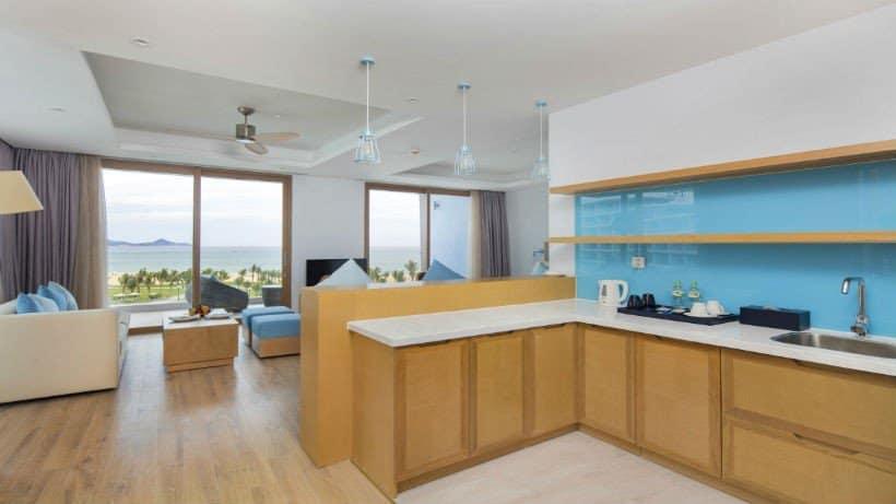 Không gian nhà bếp với đầy đủ tiện nghi đem lại cảm hứng nấu ăn cho tất cả mọi người. Ảnh St