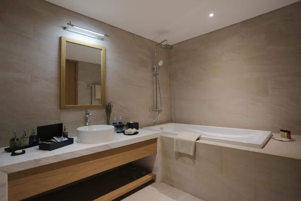 Phòng tắm của khách sạn. Ảnh ST