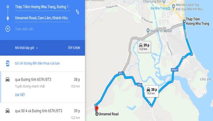Đường đi đến khu du lịch tàu ngầm Nha Trang.