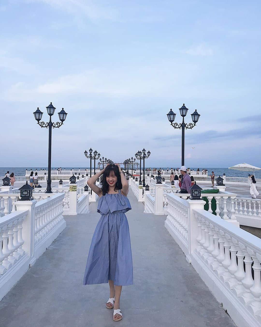 Lạc vao trời Tây thu nhỏ tại cầu cảng biển ngay cạnh Paracel Hải Tiến. Ảnh:crab_lolo