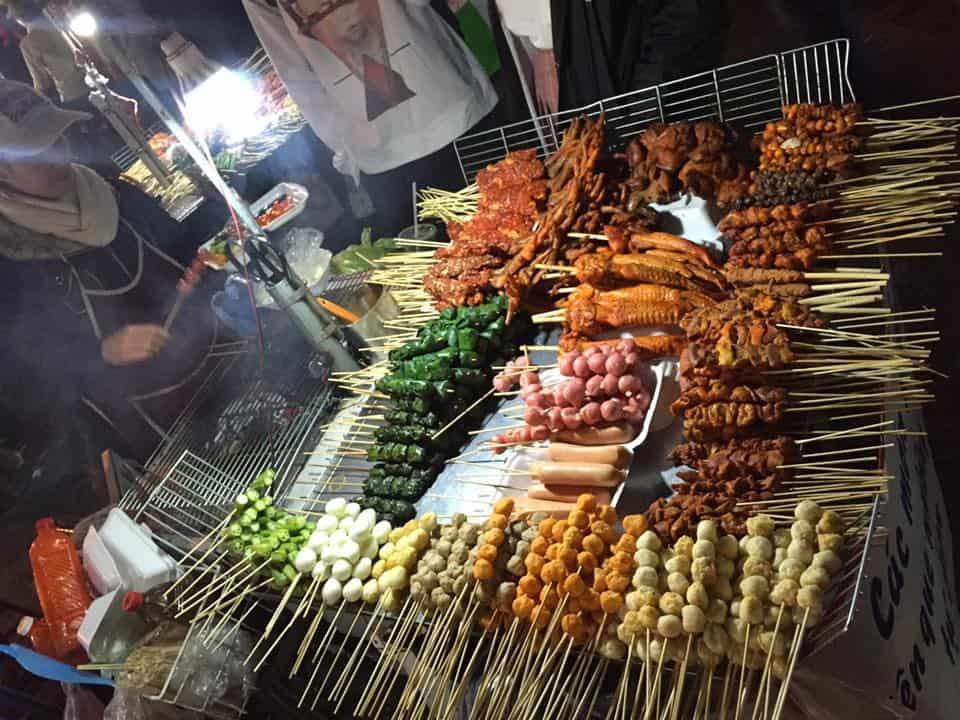 Các món nướng đầy hấp dẫn có mặt tại chợ đêm