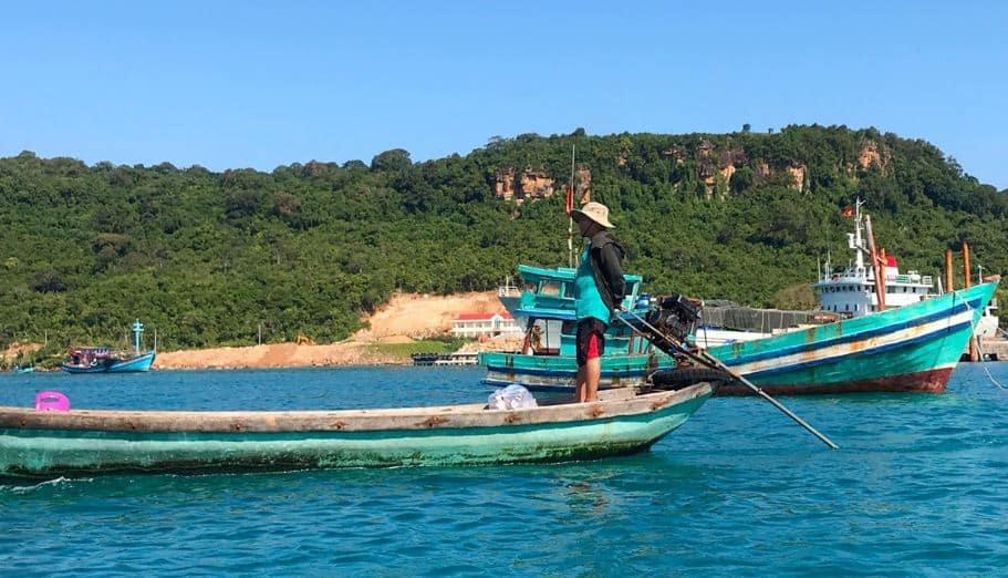 Người dân trên đảo Thổ Chu. Hình: VOV