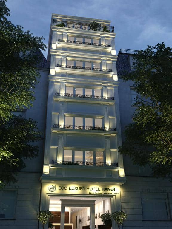 Kiến trúc sang trọng bên ngoài của Eco Luxury Hotel