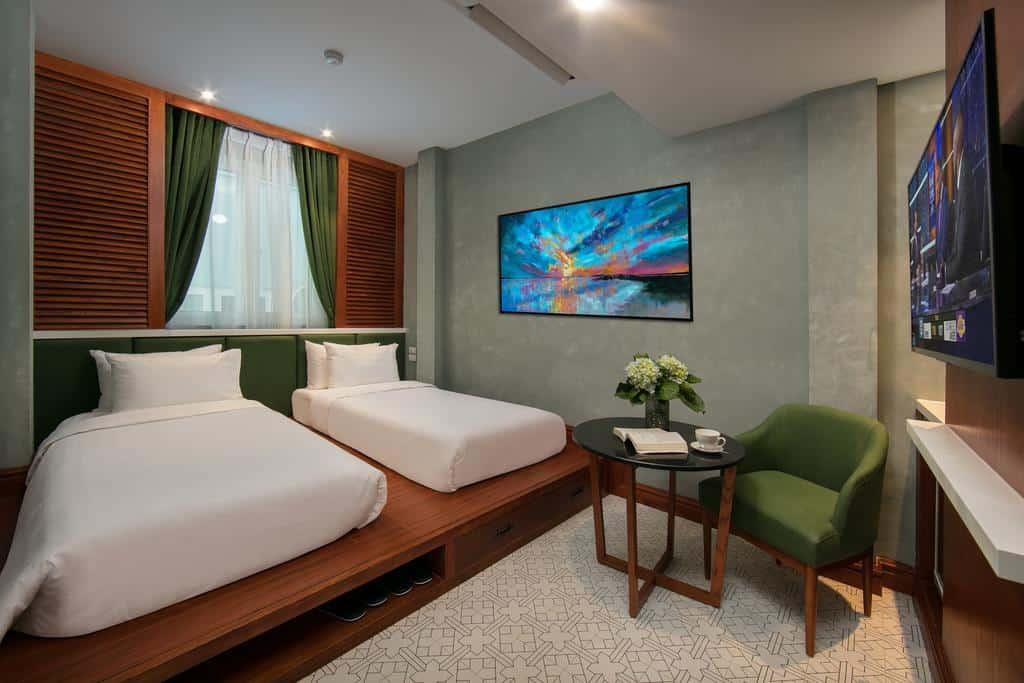 Phòng nghỉ đầy đủ tiện nghi và các trang thiết bị hiện đại