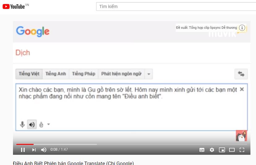 Để chị Google hát cho mà nghe rồi cười cho mà xỉu