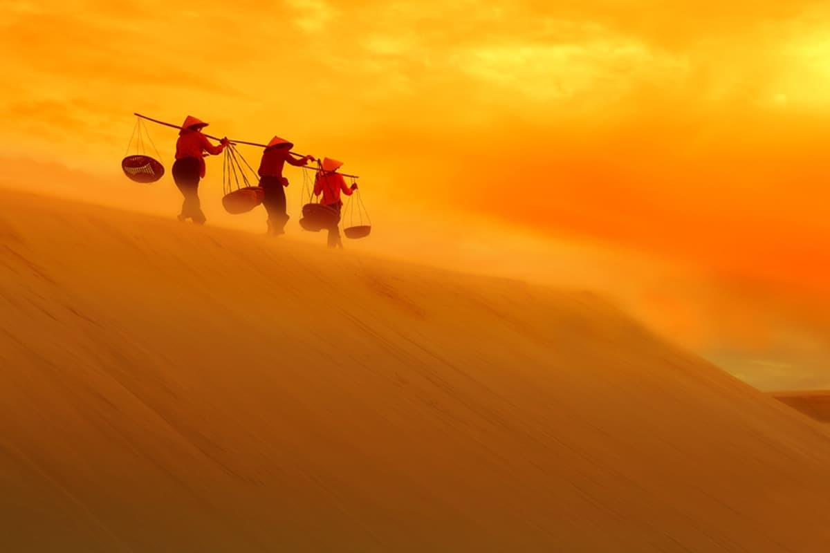 Đồi cát vàng hay được gọi là đồi cát bay vàng rực ảo diệu