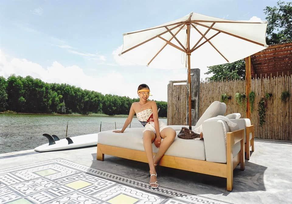 Khu du lịch sinh thái, nghỉ dưỡng thích hợp vào cuối tuần. Hình: Chi-Bu Vietnam