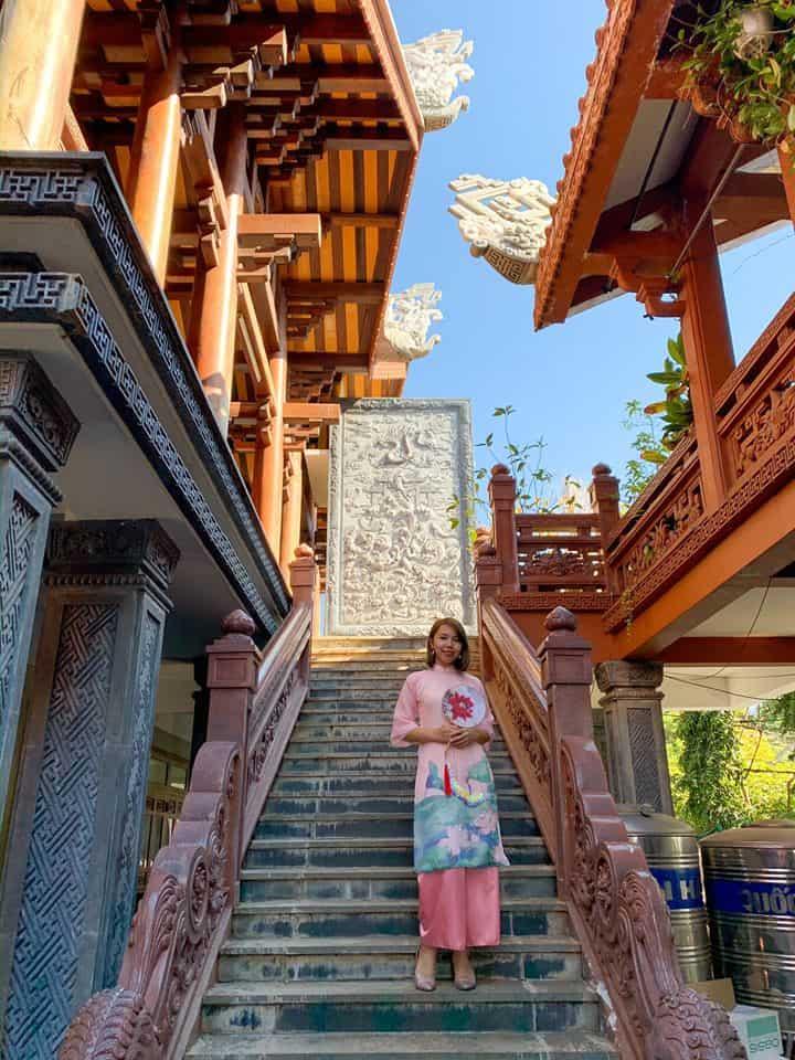 Ngôi chùa có kiến trúc kiểu nhà rường Huế. Hình: Phương Đỗ
